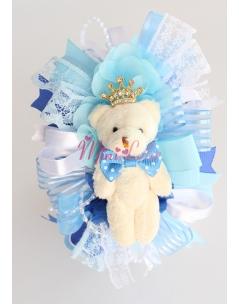Mavi kral ayıcıklı süslemeli şirin taç