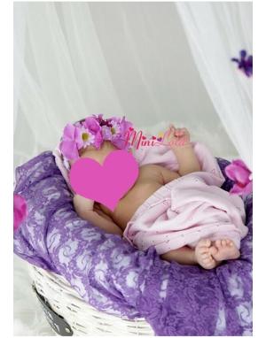 Mor lila papatya çiçekli ortancalı saç bandı