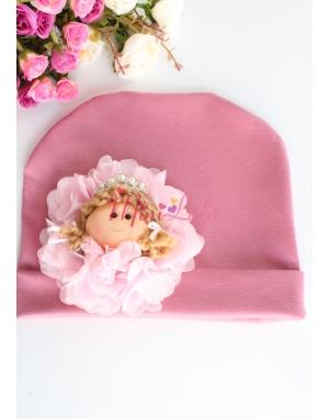 Gülkurusu renk prenses taşlı bebek figürlü şirin bere