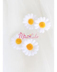 Papatya çiçekli toka takımı