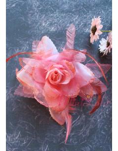 Nar çiçeği sim detaylı çiçekli klips toka